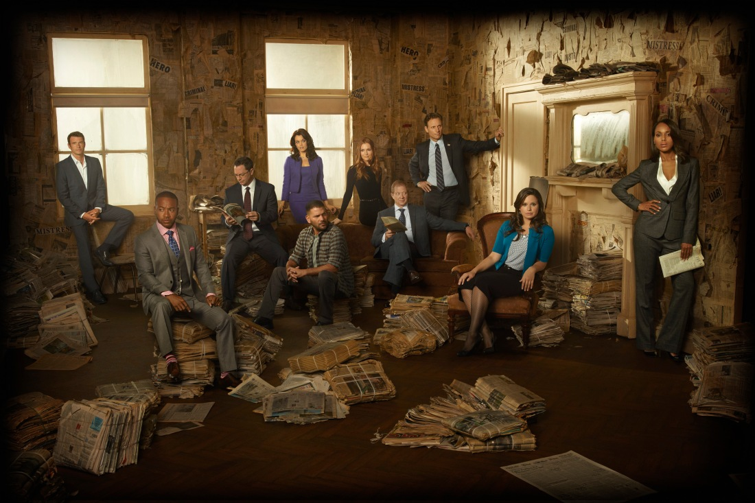 SCOTT FOLEY, COLUMBUS SHORT, JOSHUA MALINA, BELLAMY YOUNG, GUILLERMO DIAZ, DARBY STANCHFIELD, JEFF PERRY, TONY GOLDWYN, KATIE LOWES, KERRY WASHINGTON