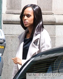 Exclusive... Kerry Washington Films 'Scandal' In Los Angeles