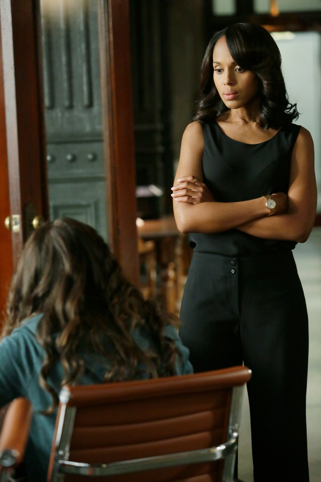 "SCANDAL - ""You Can't Take Command"" - Everything comes to a head in the shocking season finale when Olivia and the team finally make some big moves to take down Command, and Mellie's fate is sealed as the election results are announced, on the season finale of ""Scandal,"" THURSDAY, MAY 7 (9:00-10:00 p.m., ET) on the ABC Television Network. (ABC/Nicole Wilder) KERRY WASHINGTON"
