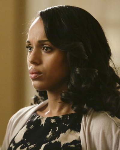 "SCANDAL - ""Yes"" -- The Pope and Associates team dives into a new case that takes Olivia out of D.C. and away from the President. Meanwhile, back at the White House, Fitz is determined to find who's responsible for causing the latest turn of events, and Abby receives unexpected guidance from a master of damage control as she struggles to catch a break, on ""Scandal,"" THURSDAY OCTOBER 1 (9:00--10:00 p.m., ET) on the ABC Television Network. (Photo by Nicole Wilder/ABC via Getty Images) KERRY WASHINGTON"