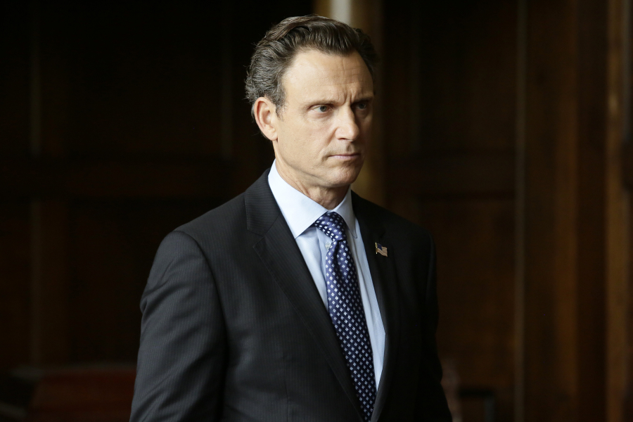 "SCANDAL - ""Heavy is the Head"" - Olivia and Fitz are back together again and enjoying every scandalous moment together while Cyrus, Mellie and Huck are all still dealing with the aftermath of helping Command. Meanwhile, when a visit from the Queen of Caldonia and her family turns into a tragedy, Olivia is hired to make sure the Royal family's private life stays private, on the Season 5 premiere of ""Scandal,"" THURSDAY SEPTEMBER 24 (9:00-10:00 p.m., ET) on the ABC Television Network. (ABC/Nicole Wilder) TONY GOLDWYN"