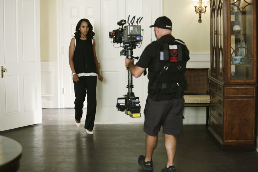 "SCANDAL - ""Paris is Burning"" - Olivia and Fitz face some very big consequences and Mellie brings in an old friend to make sure she gets her way. Meanwhile, Abby shows Olivia she is fully capable of handling working at the White House, on ""Scandal,"" THURSDAY OCTOBER 8 (9:00-10:00 p.m., ET) on the ABC Television Network. (ABC/Nicole Wilder) KERRY WASHINGTON"