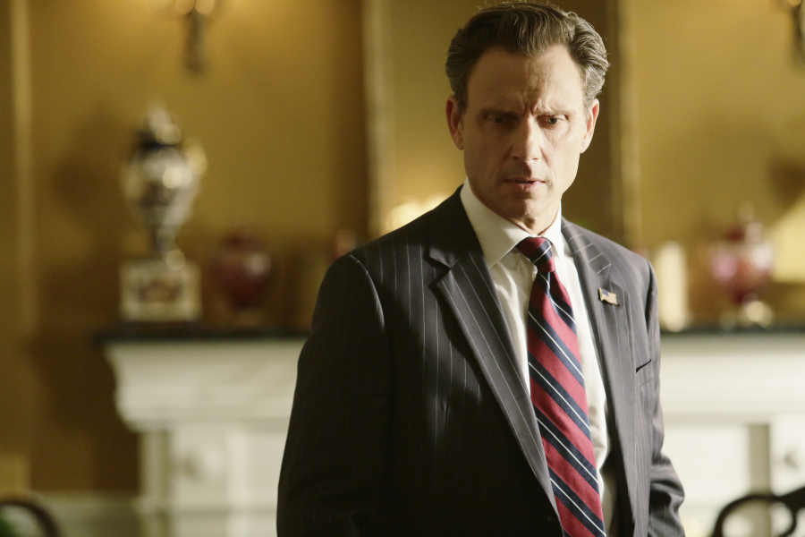 "SCANDAL - ""Paris is Burning"" - Olivia and Fitz face some very big consequences and Mellie brings in an old friend to make sure she gets her way. Meanwhile, Abby shows Olivia she is fully capable of handling working at the White House, on ""Scandal,"" THURSDAY OCTOBER 8 (9:00-10:00 p.m., ET) on the ABC Television Network. (ABC/Nicole Wilder) TONY GOLDWYN"