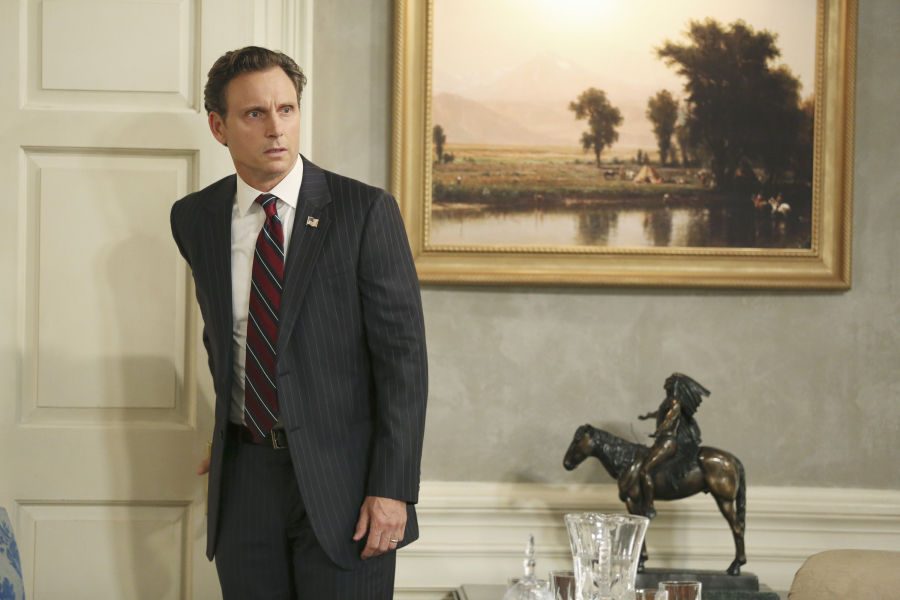 "SCANDAL - ""Paris is Burning"" - Olivia and Fitz face some very big consequences and Mellie brings in an old friend to make sure she gets her way. Meanwhile, Abby shows Olivia she is fully capable of handling working at the White House, on ""Scandal,"" THURSDAY OCTOBER 8 (9:00-10:00 p.m., ET) on the ABC Television Network. (ABC/John Fleenor) TONY GOLDWYN"