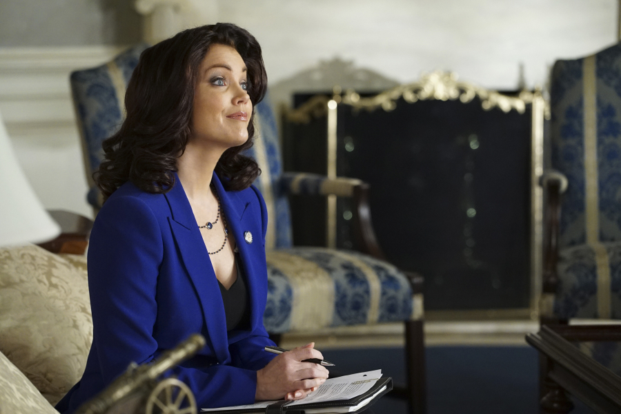 """SCANDAL - """"Yes"""" -- The Pope and Associates team dives into a new case that takes Olivia out of D.C. and away from the President. Meanwhile, back at the White House, Fitz is determined to find who's responsible for causing the latest turn of events, and Abby receives unexpected guidance from a master of damage control as she struggles to catch a break, on """"Scandal,"""" THURSDAY OCTOBER 1 (9:00--10:00 p.m., ET) on the ABC Television Network. (ABC/Eric McCandless) BELLAMY YOUNG"""