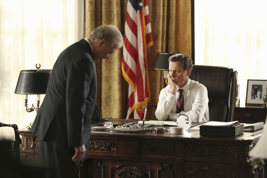 "SCANDAL - ""Paris is Burning"" - Olivia and Fitz face some very big consequences and Mellie brings in an old friend to make sure she gets her way. Meanwhile, Abby shows Olivia she is fully capable of handling working at the White House, on ""Scandal,"" THURSDAY OCTOBER 8 (9:00-10:00 p.m., ET) on the ABC Television Network. (ABC/John Fleenor) JEFF PERRY, TONY GOLDWYN"