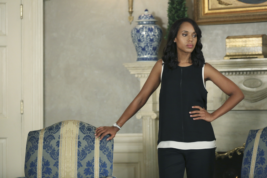 "SCANDAL - ""Paris is Burning"" - Olivia and Fitz face some very big consequences and Mellie brings in an old friend to make sure she gets her way. Meanwhile, Abby shows Olivia she is fully capable of handling working at the White House, on ""Scandal,"" THURSDAY OCTOBER 8 (9:00-10:00 p.m., ET) on the ABC Television Network. (ABC/John Fleenor) KERRY WASHINGTON"